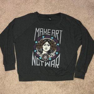 Obey Make Art Not War long sleeve shirt